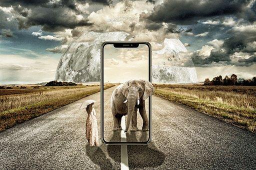 écran d'un mobile